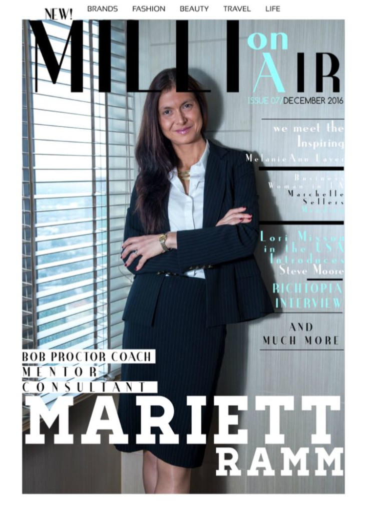 Mariett Ramm featured in MillOnAir Global Magazine